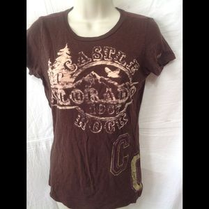 Women's size Small CHIP AND PEPPER Colorado tee